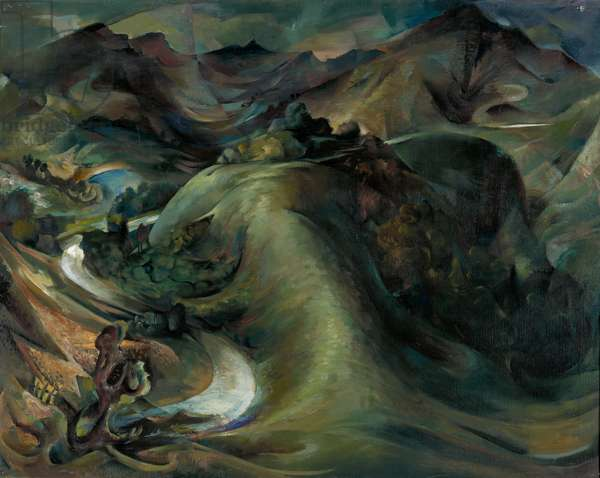 Aberglaslyn (Whale), 1950 (oil on canvas)