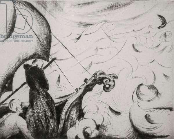 Stringendo e furioso, 1923 (drypoint)