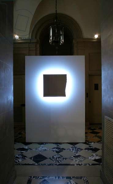 The Light, 1997 (white varathene paint on wood with neon)