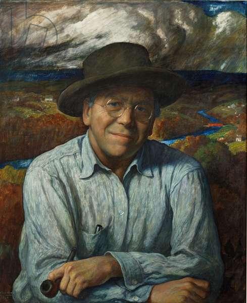 Self-Portrait, 1940 (tempera on gessoed panel)