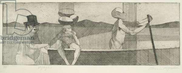 Voyage, 1955 (etching)