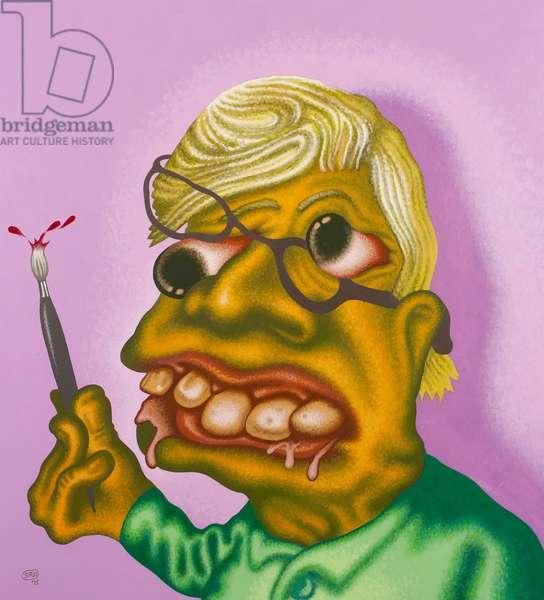 Self-Portrait, 2013 (acrylic on canvas)