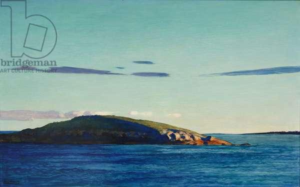 Blubber Island, Maine, 1938 (oil on gesso ground)