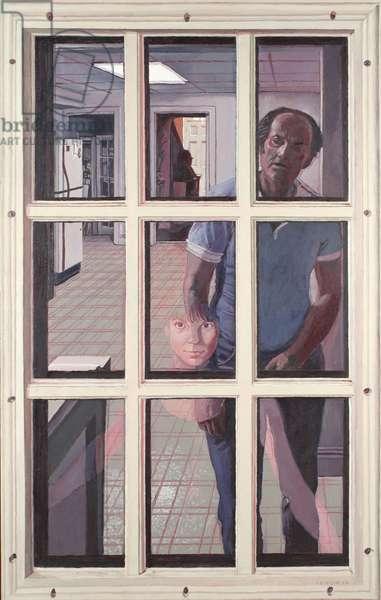 Francesca At The Door, 1992 (acrylic on canvas)