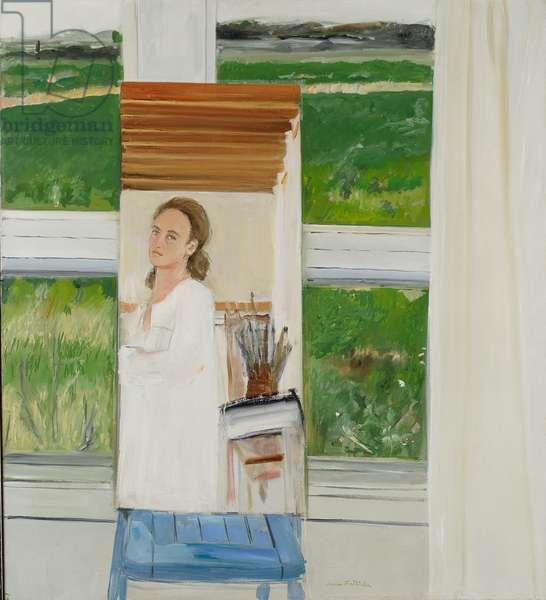 Self-Portrait in a Mirror, 1971 (oil on linen)
