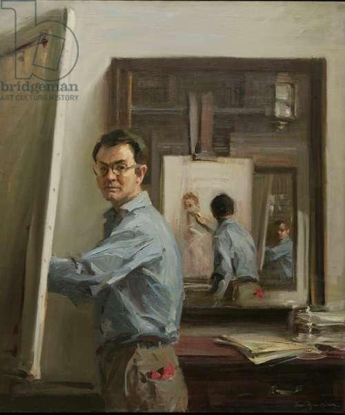 Triple Self-Portrait, 1970 (oil on canvas)