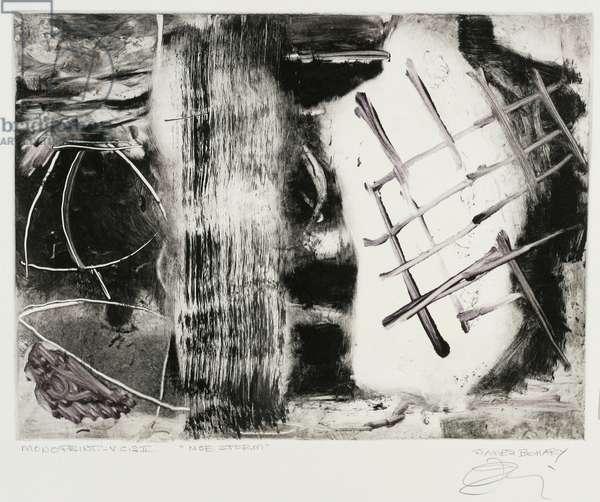 Noe Storm, 2000 (monotype on white rives bfk paper)