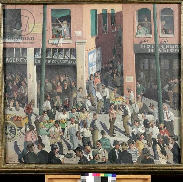Unemployment (oil on canvas)