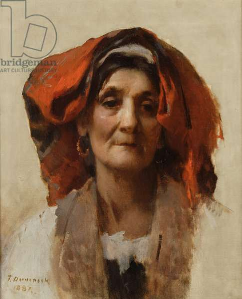 Head of an Italian Woman, 1887 (oil on canvas)