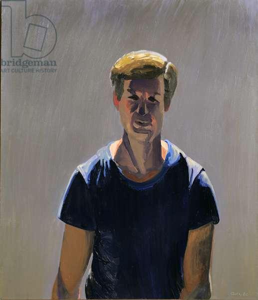 Self-Portrait (Walking), 1980 (oil on canvas)