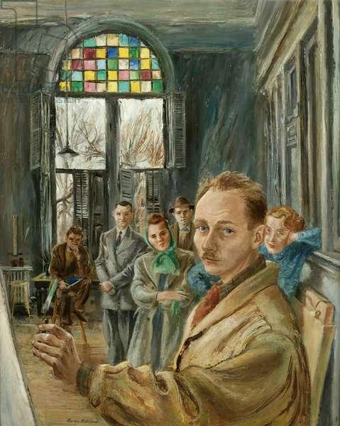 Artist in Residence: Self-Portrait, 1943 (oil on canvas)