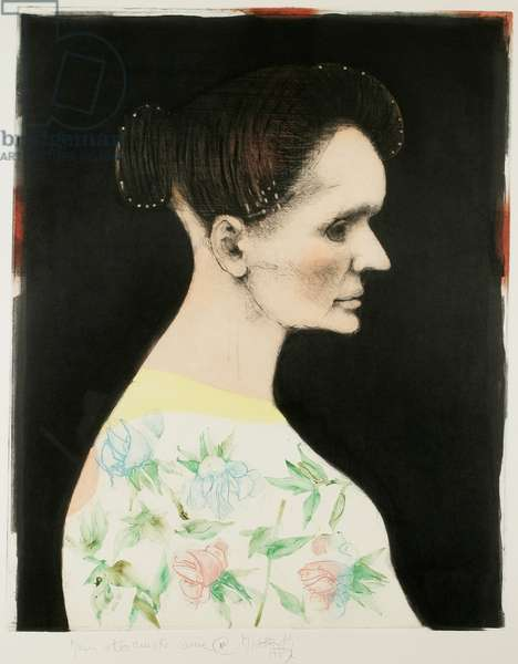 Madame Curie, 1987 (colour etching, drypoint, & softground with scraping & burnishing)