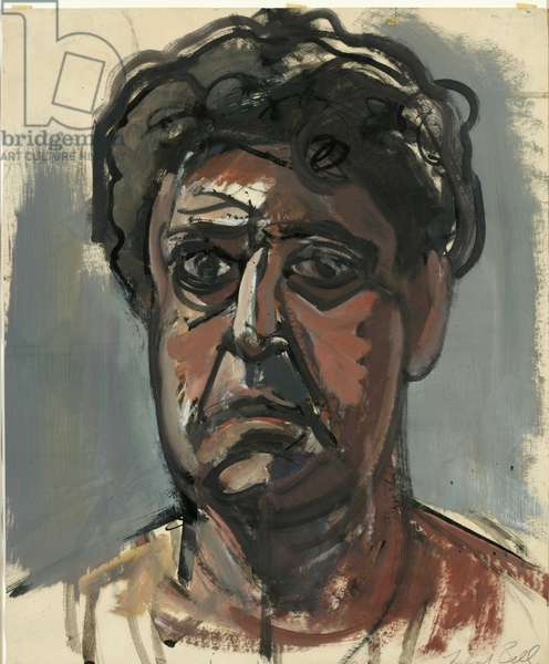 Self-Portrait (oil on paper)