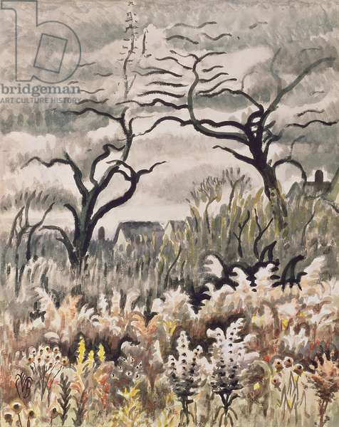 Goldenrod in November, 1952 (w/c & gouache with charcoal on wove paper)