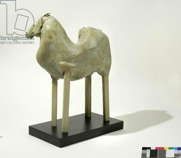 Equus Asia, 2000 (bronze & wood)
