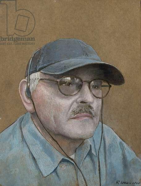 Self-Portrait, 2000 (gouache & graphite on board)