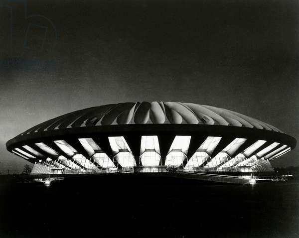 Assembly Hall, Champaign, Illinois, 1963 (gelatin silver print)