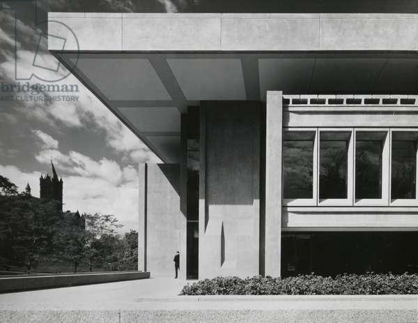 S. I. Newhouse Communications Center, Syracuse University, 1964 (gelatin silver print)