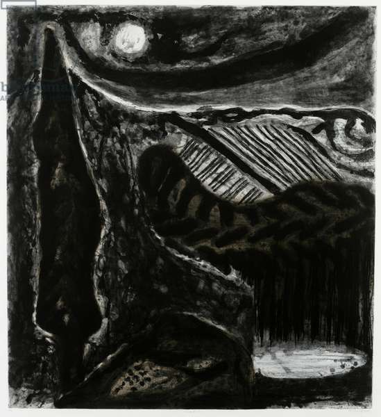 Chianti I, 2004 (etching & collagraph, with hand-applied w/c on white wove paper)