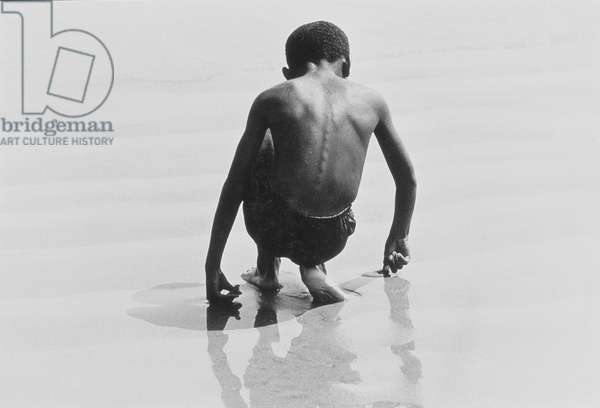 Boy Playing in the Sand at Coney Island, Untitled 30, c.1953-64 (b/w photo)