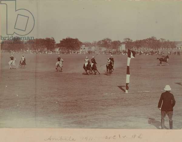 Ambala Native Cavalry Polo, 1911 (b/w photo)