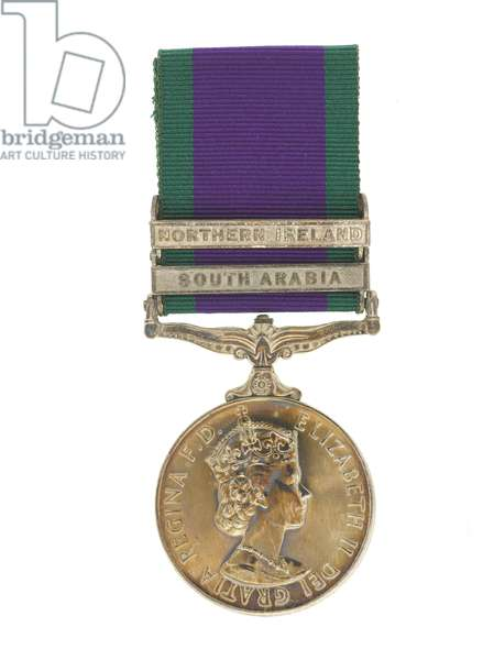 General Service Medal, 2 clasps: South Arabia, Northern Ireland, 1962 (metal & ribbon)