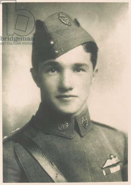 Captain Albert Ball, DSO, MC, Royal Flying Corps, 1917 (b/w photo)
