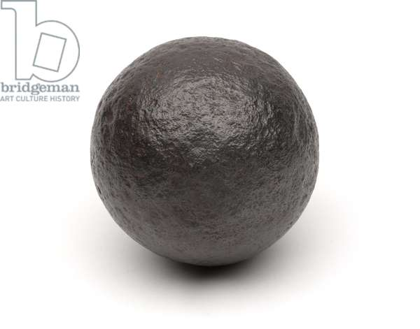 Cannon ball from the Battle of Naseby, 14 June 1645 (metal)