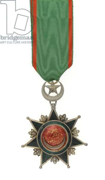 Order of the Osmanieh, Turkey, 4th Class, Major General Euston Henry Sartorius, 59th (2nd Nottinghamshire) Regiment (metal)