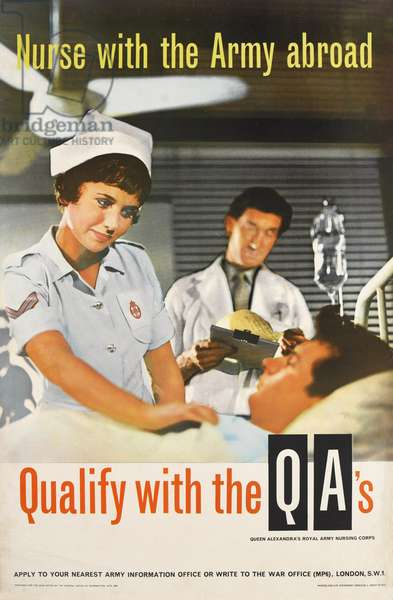 Nurse with the Army Abroad, 1960 (colour litho)