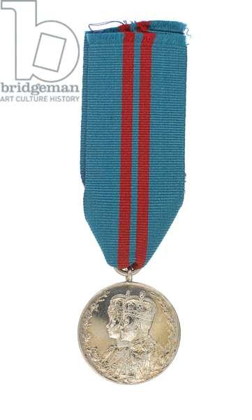 King George V Coronation Medal 1911, Major General Euston Henry Sartorius, 59th (2nd Nottinghamshire) Regiment (metal)