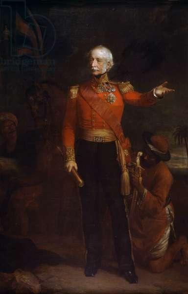 Lieutenant-General Viscount Hugh Gough, Army Staff, 1850 circa (oil on canvas)