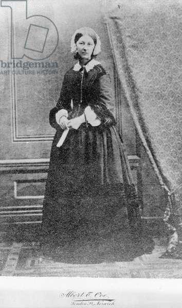 Florence Nightingale, 1856 (b/w photo)