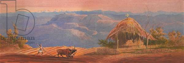 First View of Magdala, 1868 (w/c)