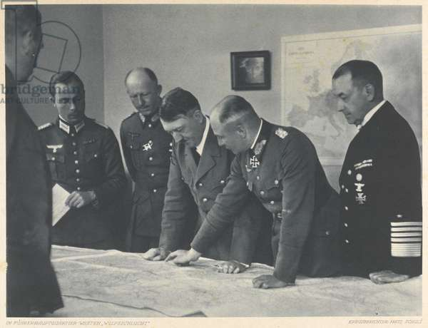 The 'Wolf's Lair', the Fuhrer's Western Headquarters, c.1939-45 (b/w photo)
