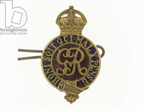 Cap badge, c.1919-36 (metal)
