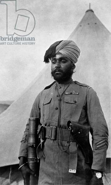 Ishar Singh VC, 28th Punjabis, 1921 (b/w photo)