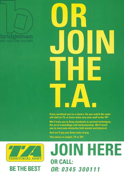 'OR JOIN THE T. A.', 1996 (colour litho)