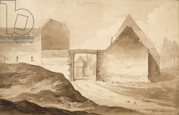 'Farme of du - Gourman No 2', 1815 (w/c & pencil on paper)