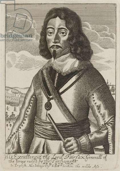 Lord Fairfax, 1650 circa (line engraving)
