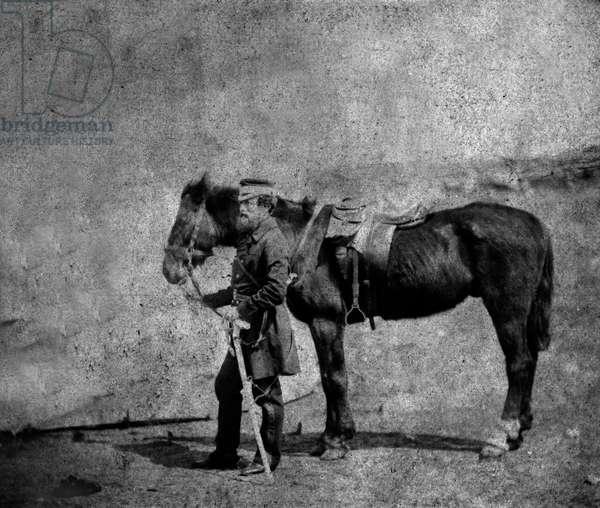 Captain Arthur Layard, 1855 (b/w photo)