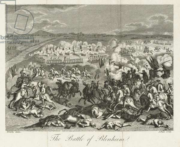 The Battle of Blenheim in 1704, published by J. Pass, 1796 (engraving)