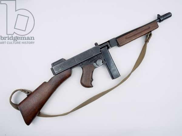 Thompson M1928A1 .45 inch sub-machine gun, 1939 circa