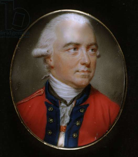 General Sir Henry Clinton (1730-95) c.1777 (w/c on ivory)