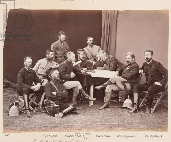 Quartermaster-General's Group, February 1880 (b/w photo)