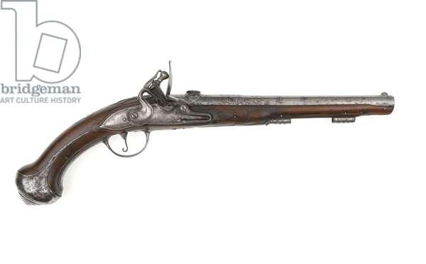 Flintlock rifled pistol, c.1645-1660 (pistol, flintlock, breechloading)