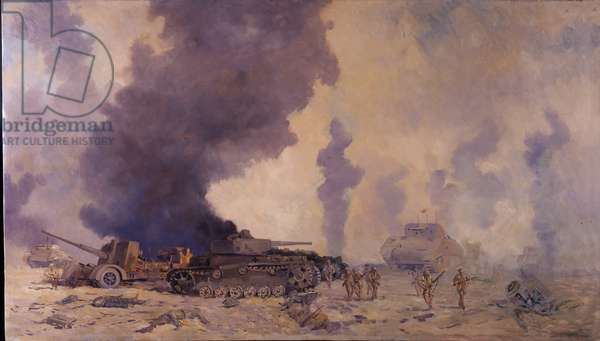 The Battle of El Alamein, 1942 (oil on canvas)