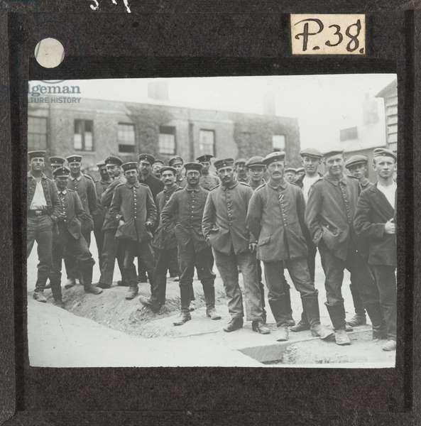 German prisoners at Dorchester Camp, 1917 (lantern slide)