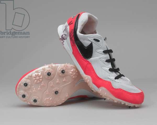 Pair of running shoes, Kelly Holmes, 1998 circa