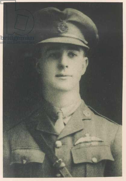 Major James McCudden VC, 1918 (b/w photo)